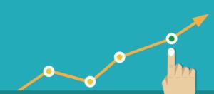 Imagem de um gráfico com um ponto sendo evidenciado na análise.