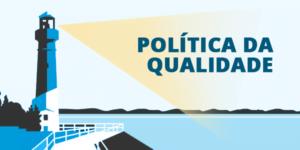 Farol apontando em uma direção única simbolizando profissionais desenvolvendo a política da qualidade.