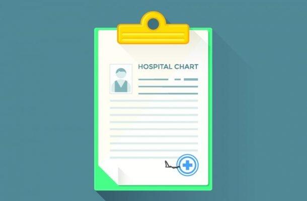 Imagem de um prontuário médico, usado para exemplificar o controle de documentos e os três pilares da segurança da informação.