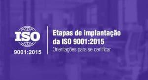 Imagem com o logo da ISO 9001:2015 e o título do artigo: