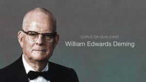 Foto do William Edwards Deming, guru da Qualidade, responsável pela difusão da melhoria contínua, constância de propósito e conhecimento organizacional.