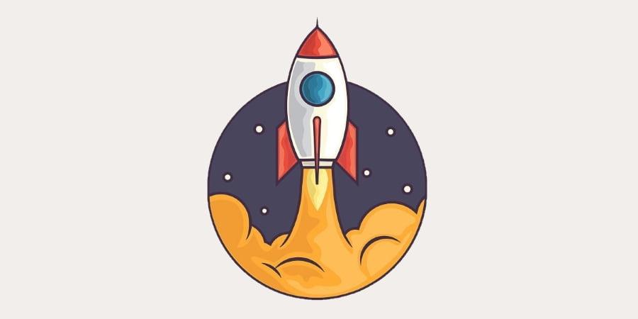 Imagem de um foguete subindo aos céus simbolizando umas das estratégias para abordar oportunidades.