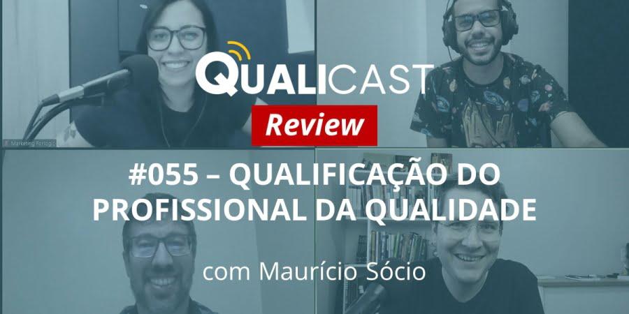 Imagem de um print retirado da gravação do qualicast sobre qualificação do profissional da qualidade.