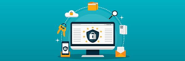 imagem de um computador com vários informações ao seu redor. Essa imagem simboliza o artigo sobre segurança da informação e iso 17025